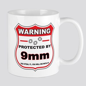 protected by 9mm shield Mug